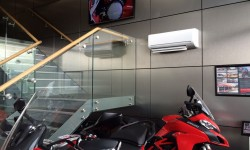 Motorcycle showroom air conditioning